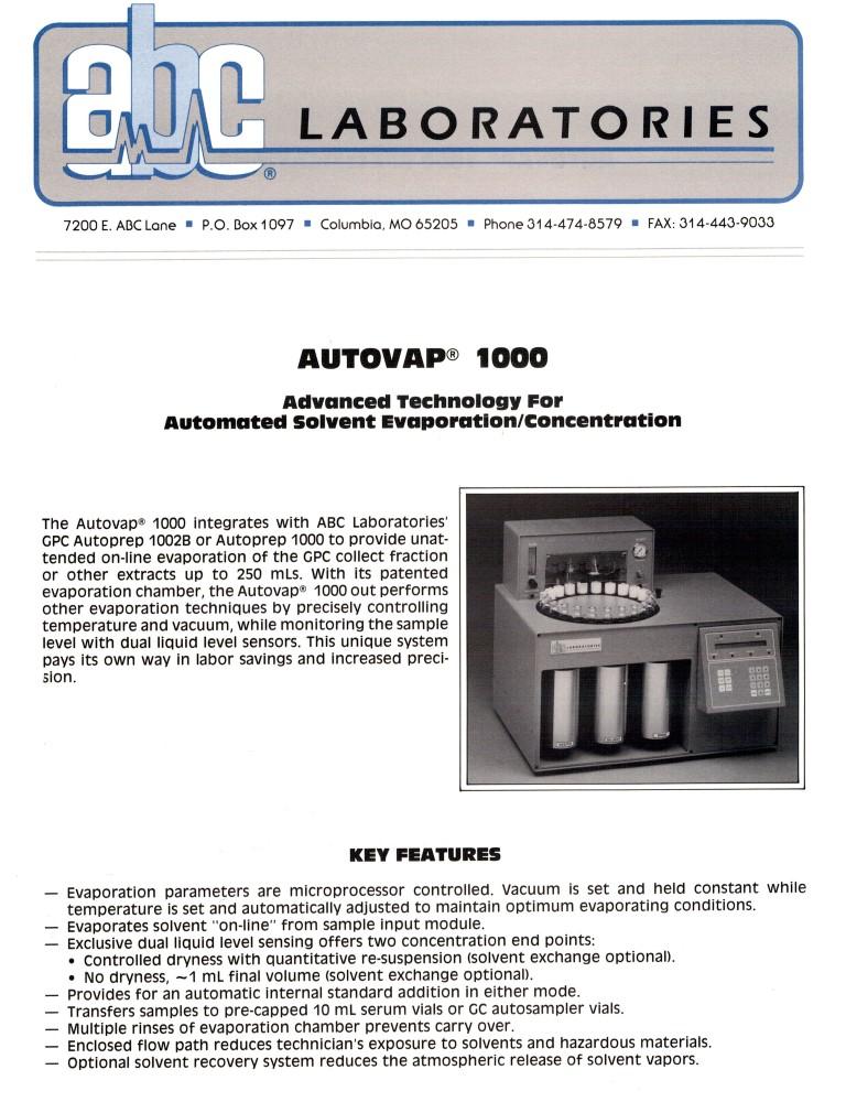 Autovap 1000 (Medium)